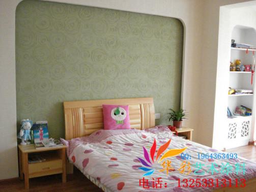 绿色清新硅藻泥墙艺涂料图片