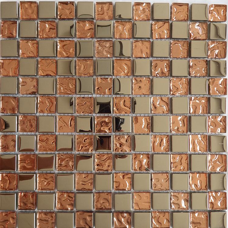 欧式银色玻璃电镀马赛克背景墙瓷砖客厅电视墙